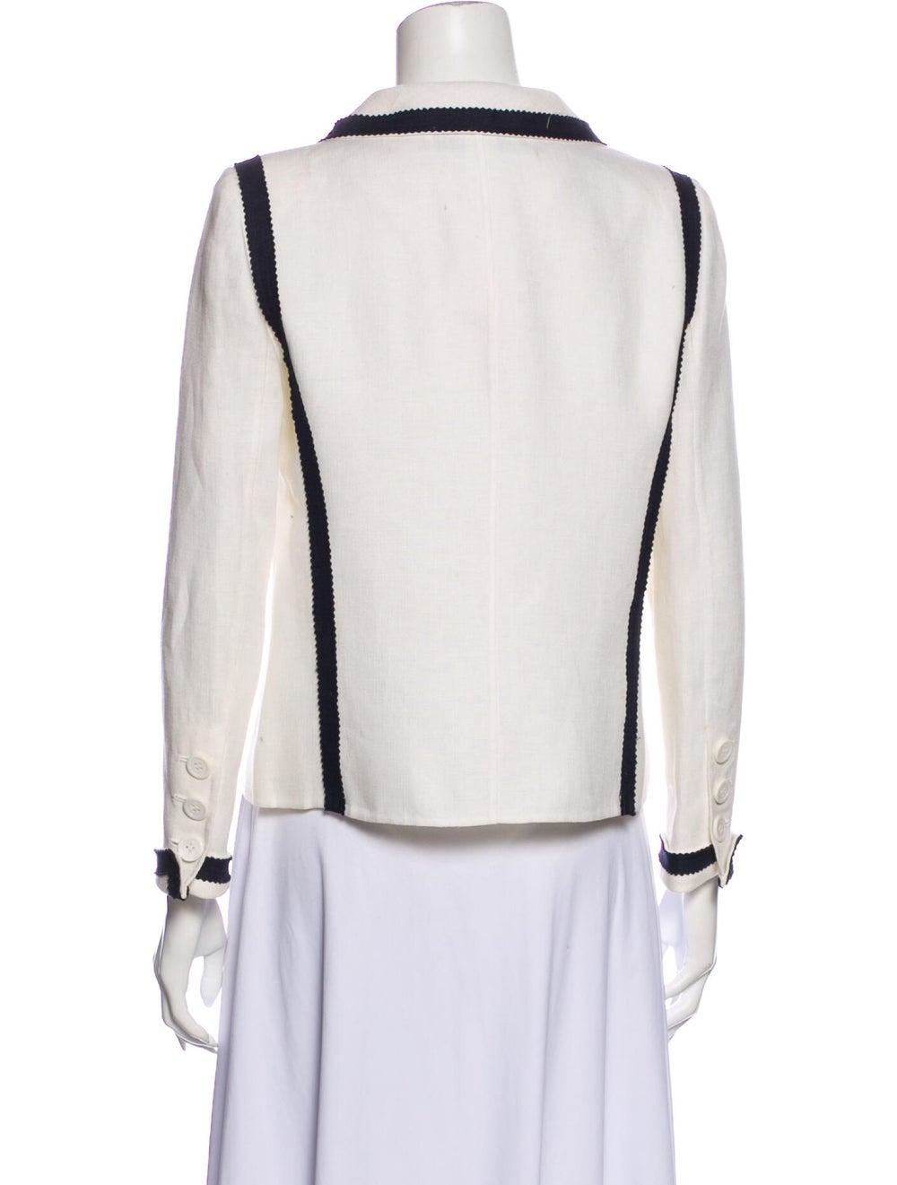 Oscar de la Renta Linen Jacket White - image 3