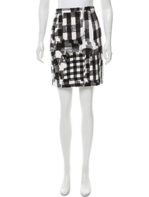 Oscar de la Renta Printed Mini Skirt Black