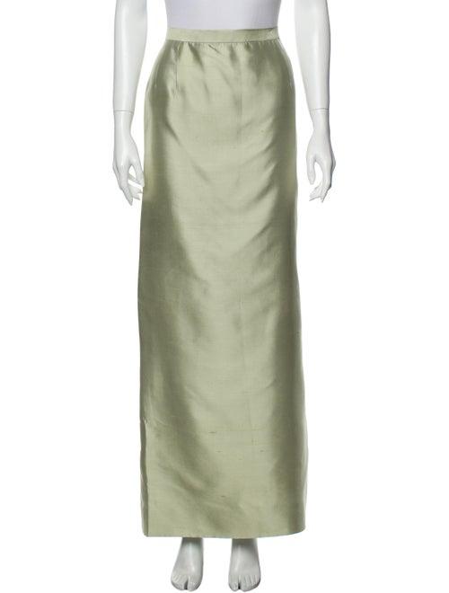 Oscar de la Renta Long Skirt Green