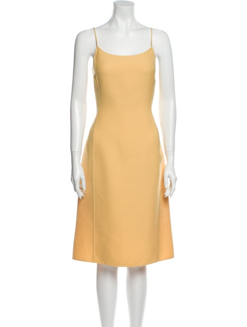 Oscar de la Renta Wool Midi Length Dress Wool - image 1