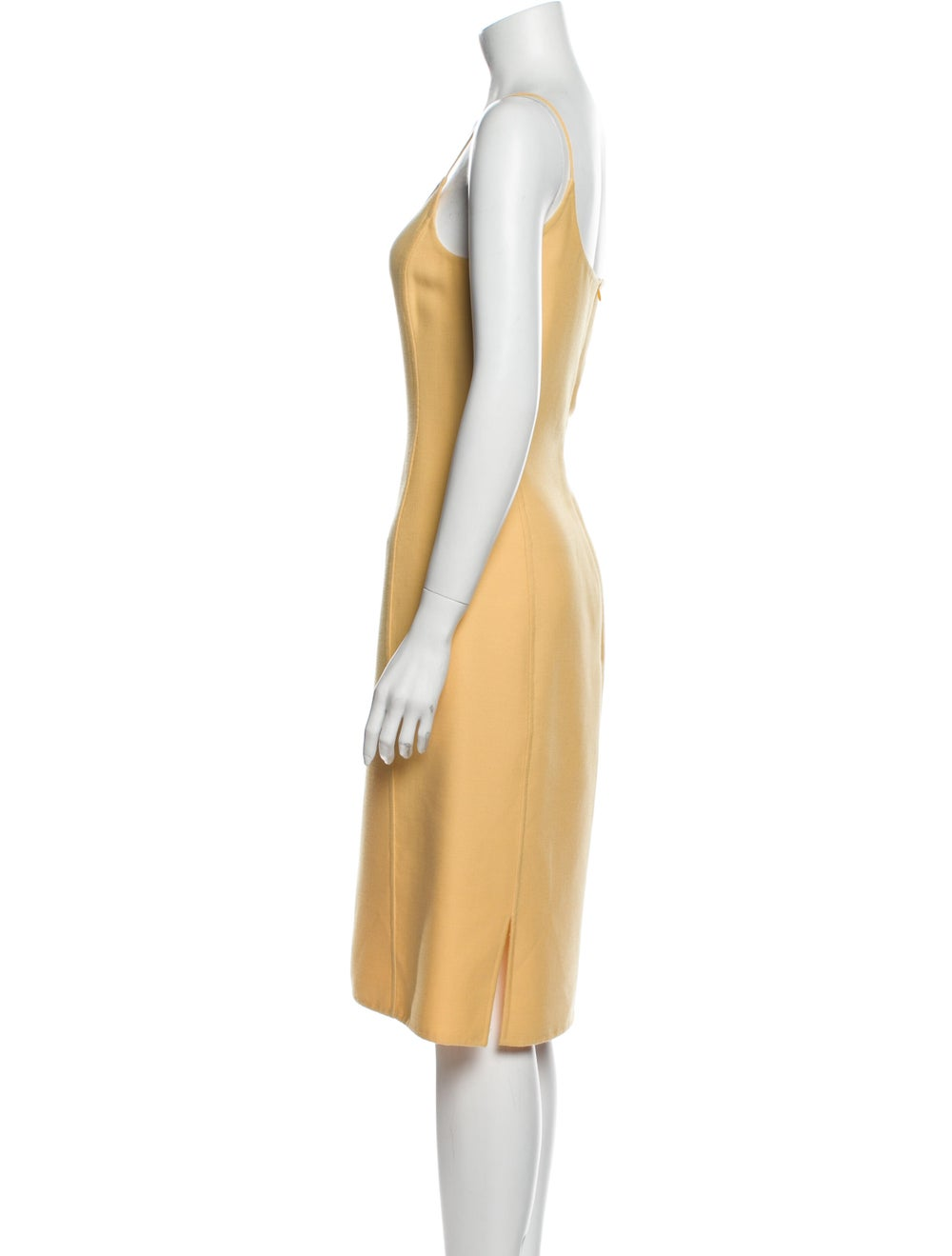 Oscar de la Renta Wool Midi Length Dress Wool - image 2