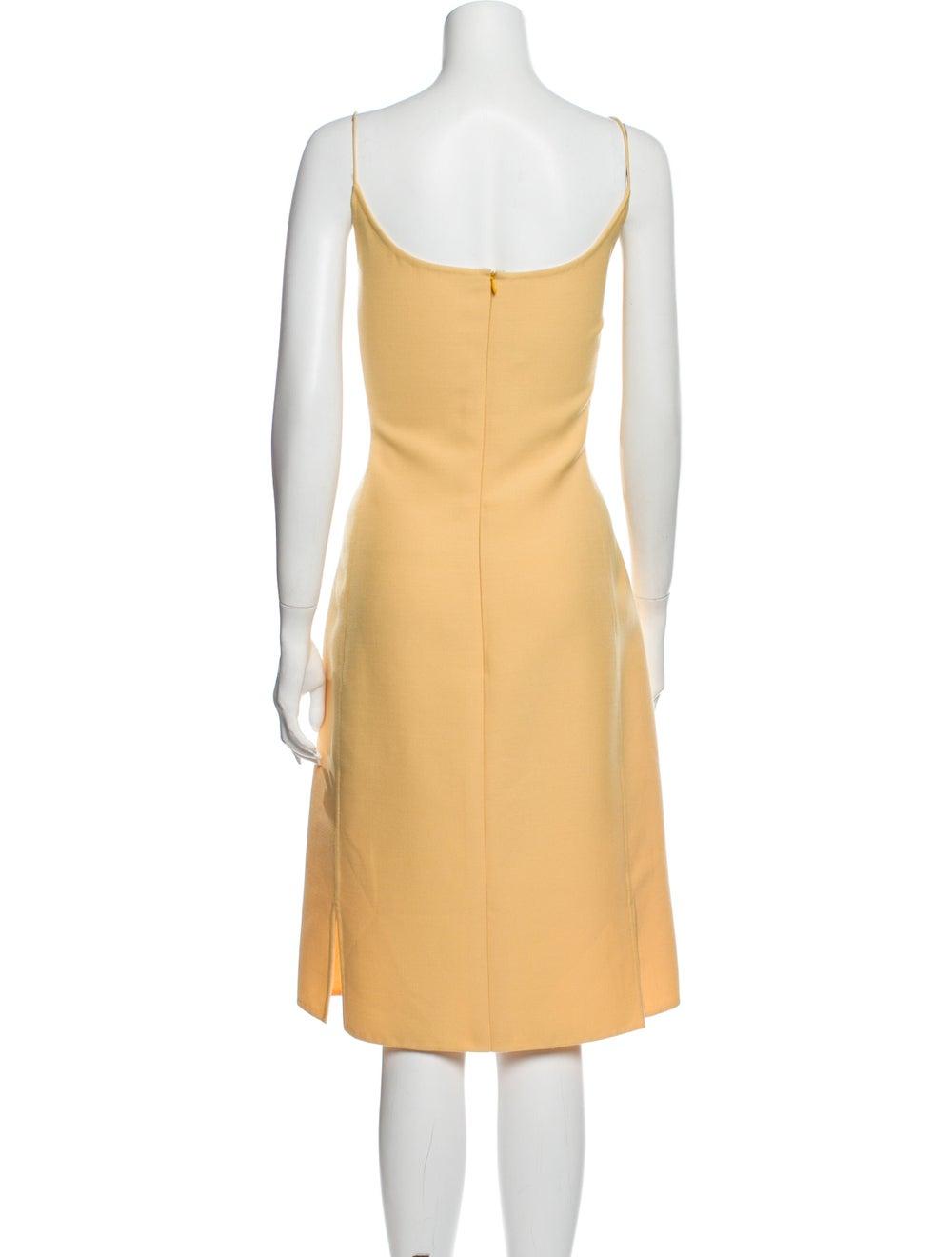 Oscar de la Renta Wool Midi Length Dress Wool - image 3