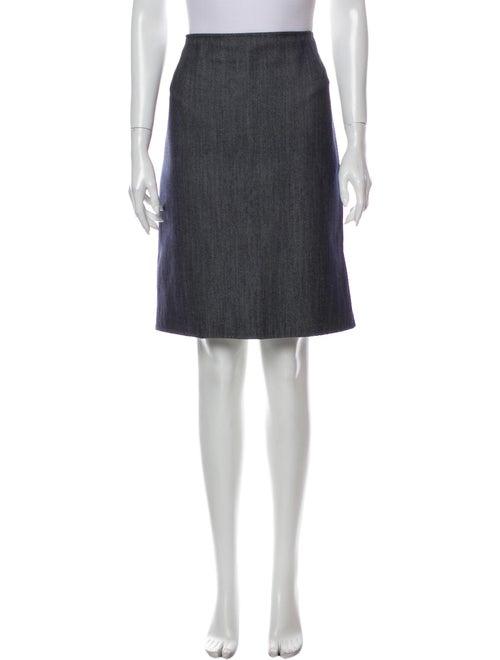 Oscar de la Renta Knee-Length Skirt Blue