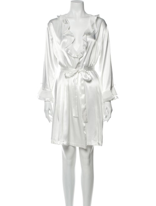 Oscar de la Renta Ruffle Embellishment Nightgown W