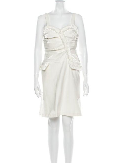 Oscar de la Renta Square Neckline Mini Dress - image 1