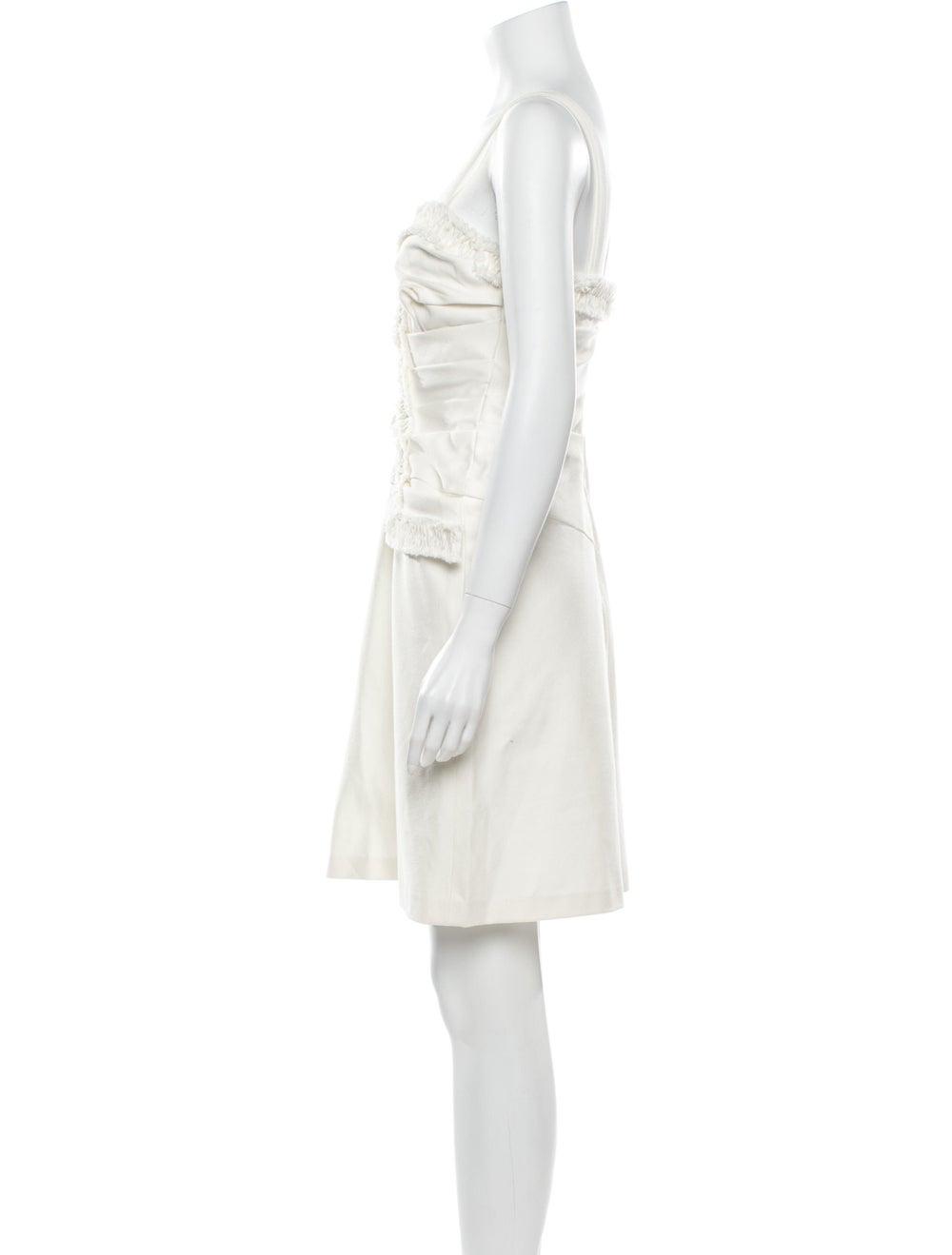 Oscar de la Renta Square Neckline Mini Dress - image 2