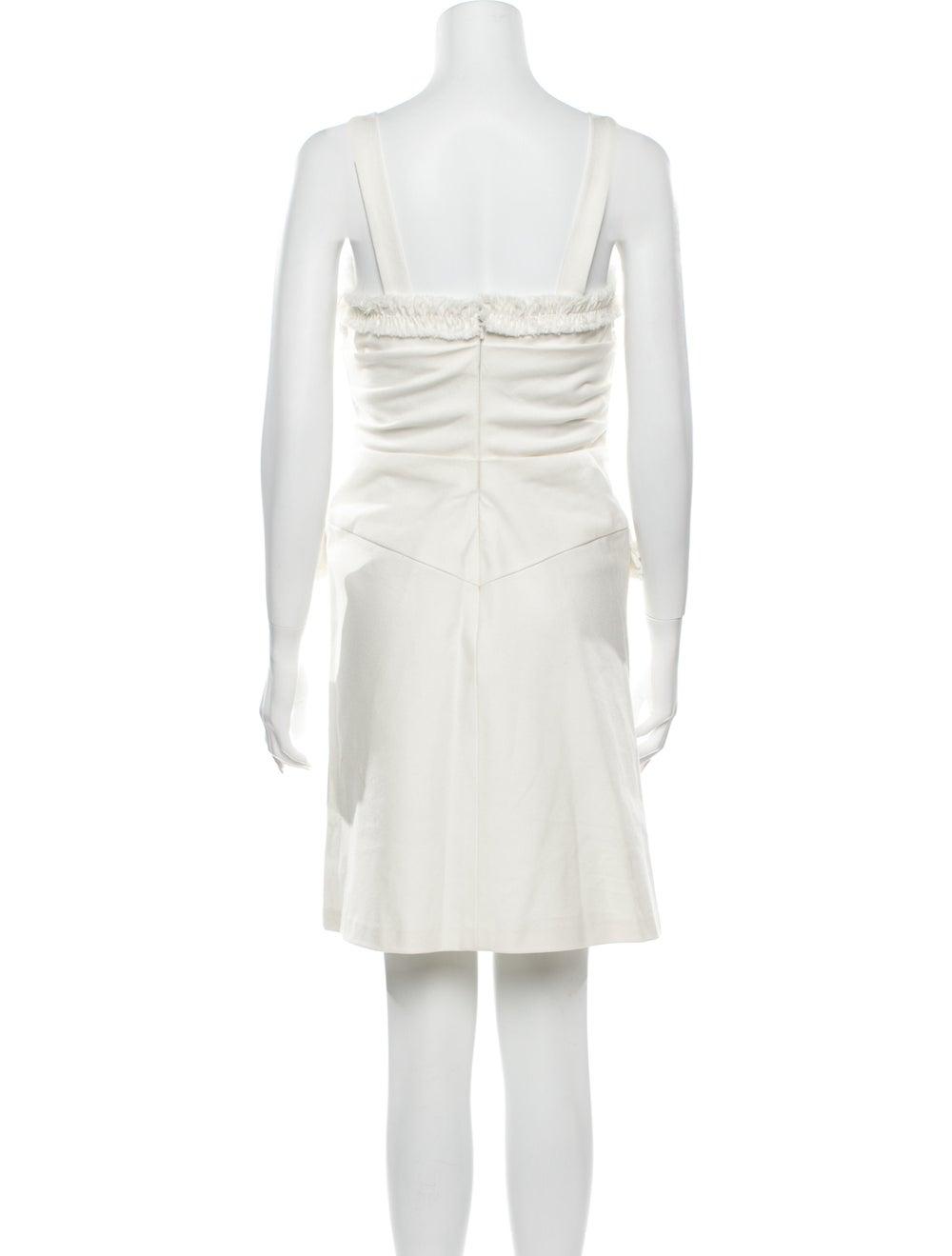 Oscar de la Renta Square Neckline Mini Dress - image 3