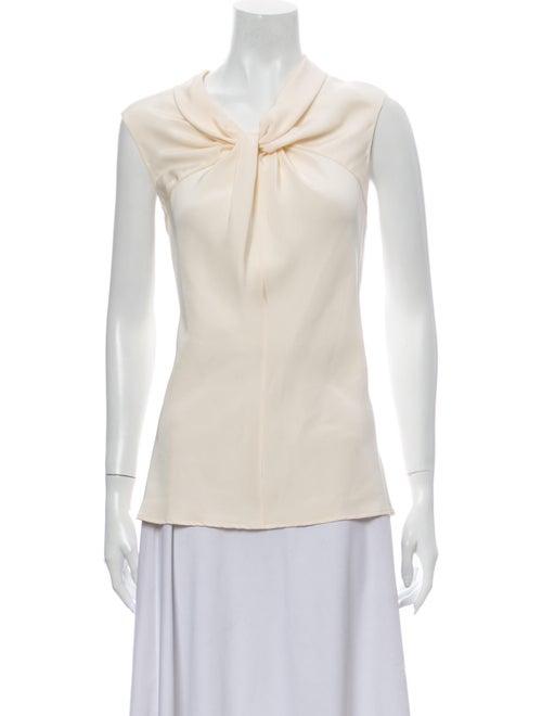 Oscar de la Renta Silk Asymmetrical Blouse