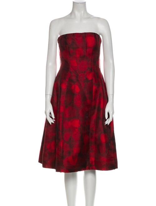 Oscar de la Renta 2016 Mini Dress Red