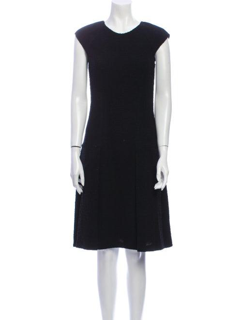 Oscar de la Renta 2008 Knee-Length Dress Black - image 1