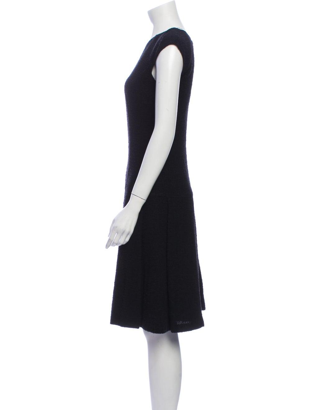 Oscar de la Renta 2008 Knee-Length Dress Black - image 2