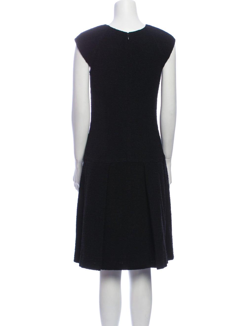 Oscar de la Renta 2008 Knee-Length Dress Black - image 3