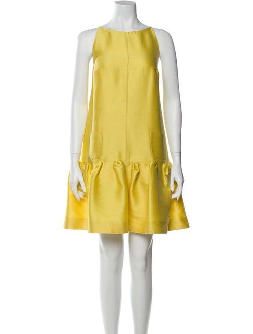 Oscar de la Renta 2008 Mini Dress Yellow