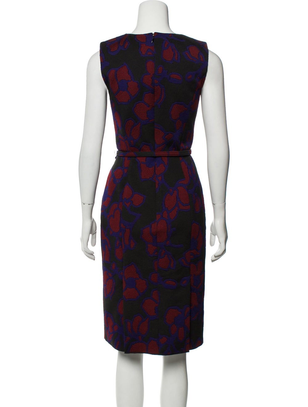 Oscar de la Renta Belted Midi Dress Black - image 3