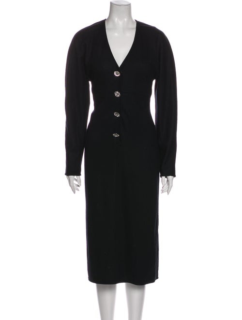 Oscar de la Renta Vintage Midi Length Dress Black - image 1
