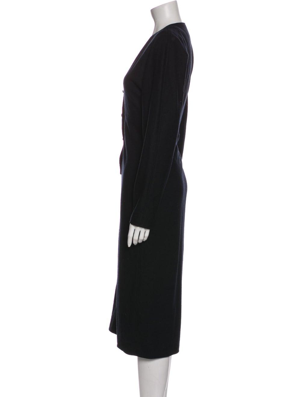 Oscar de la Renta Vintage Midi Length Dress Black - image 2