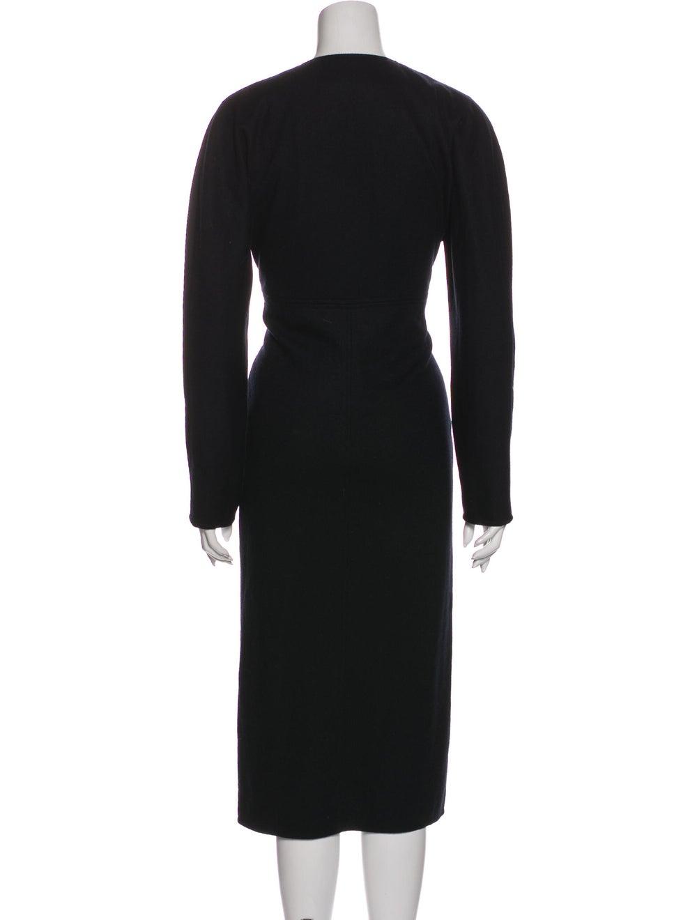 Oscar de la Renta Vintage Midi Length Dress Black - image 3