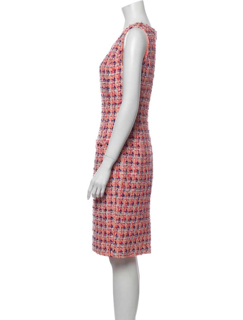 Oscar de la Renta Printed Knee-Length Dress Pink - image 2