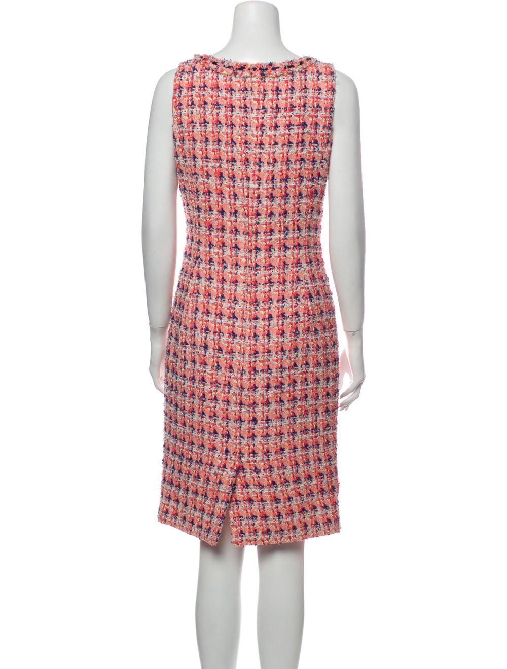 Oscar de la Renta Printed Knee-Length Dress Pink - image 3