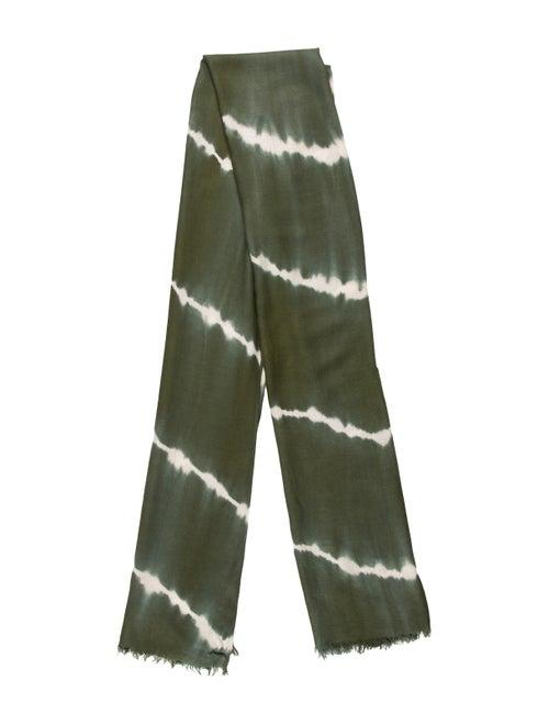 Oscar de la Renta Tie-Dye Print Scarf Green