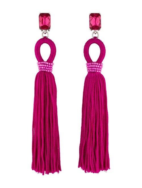 Oscar de la Renta Silk Tassel Clip-On Drop Earring
