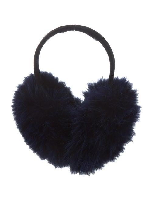 Oscar de la Renta Fur Earmuffs Black