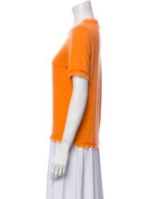 Oscar de la Renta Cashmere Crew Neck T-Shirt