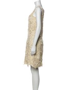 Oscar de la Renta Lace Pattern Knee-Length Dress