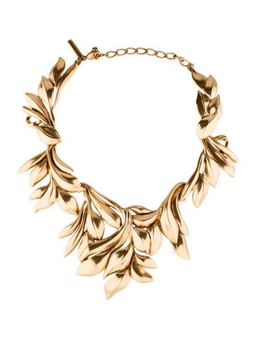 Russian Leaf Collar Necklace