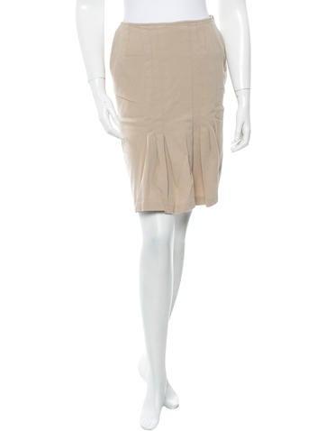 Oscar de la Renta Wool Skirt None