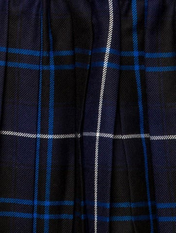 Girls' Plaid Wool Skirt