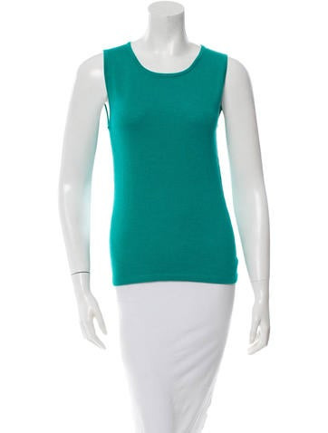 Oscar de la Renta Sleeveless Cashmere Sweater w/ Tags None