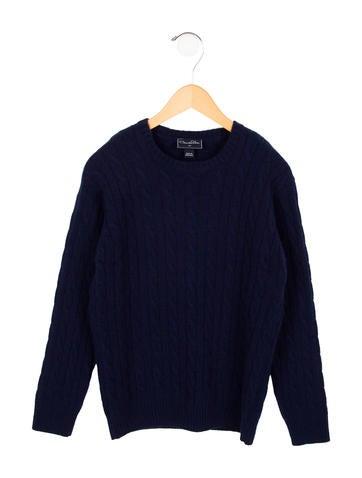 Oscar de la Renta Boys' Cashmere Cable Knit Sweater w/ Tags None