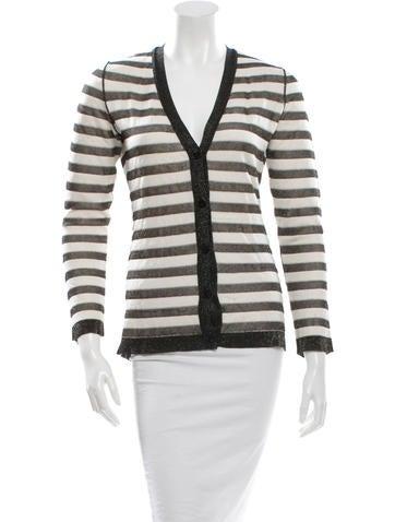 Striped Silk Cardigan