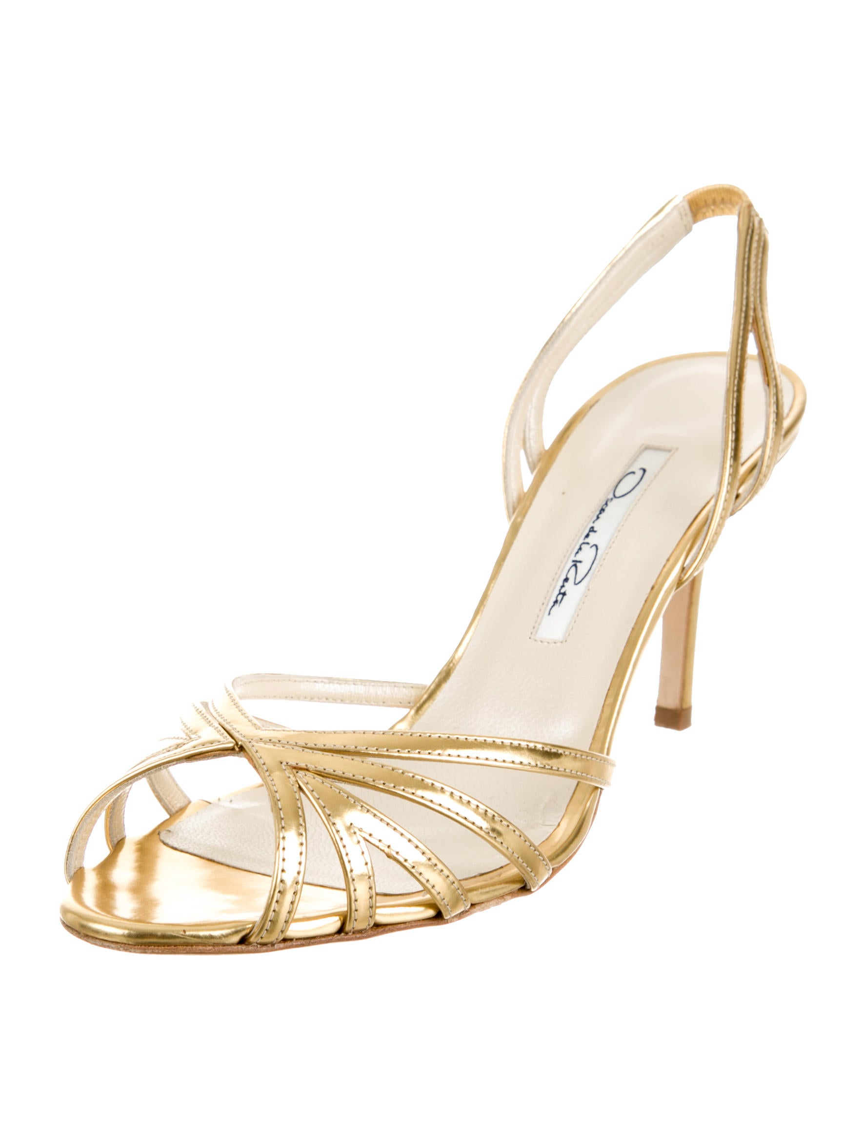 Oscar de la Renta Ramona Slingback Sandals free shipping footaction newest sale professional buy cheap fake 100% original online HULuMj2r8