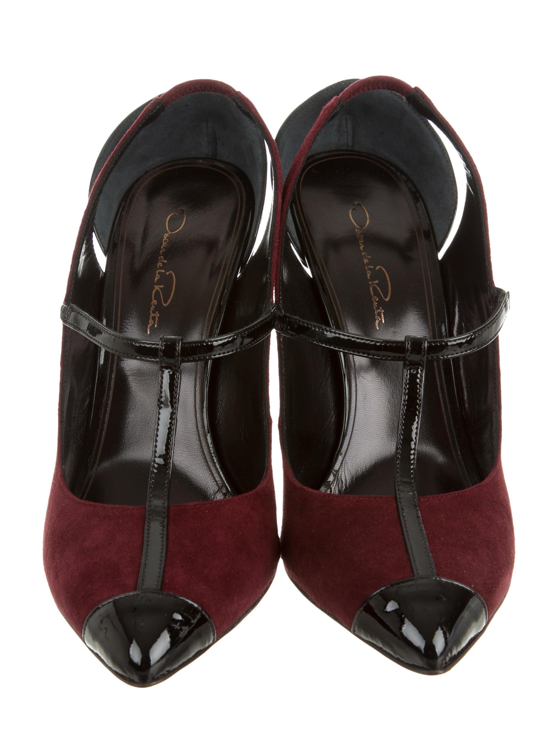 oscar de la renta fedra t strap pumps shoes osc34956 the realreal. Black Bedroom Furniture Sets. Home Design Ideas