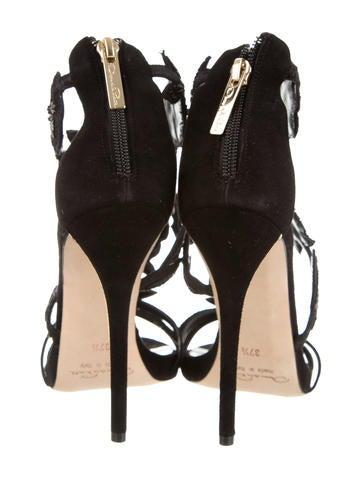 Tatum Sequin-Embellished Sandals w/ Tags