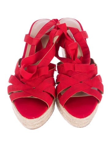Jute-Trimmed Wedge Sandals w/ Tags