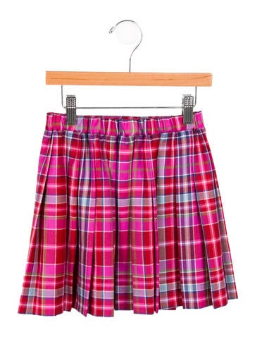 Girls' Plaid Wool Skirt w/ Tags