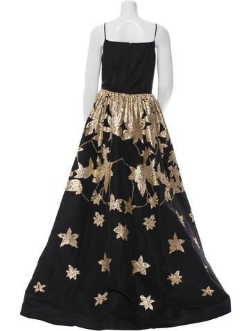 Metallic Silk Gown w/ Tags