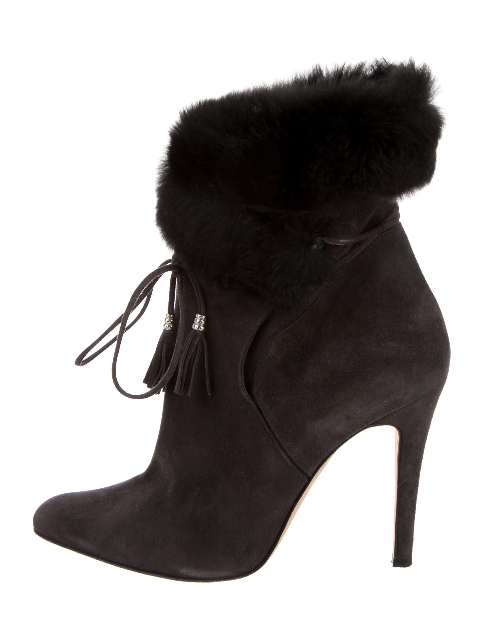 order cheap online discount recommend Oscar de la Renta Suede Semi Pointed-Toe Booties outlet low price 0YwUAlUij8