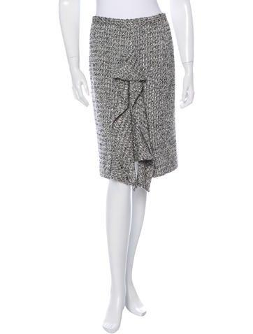 Oscar de la Renta Bouclé Wool Skirt