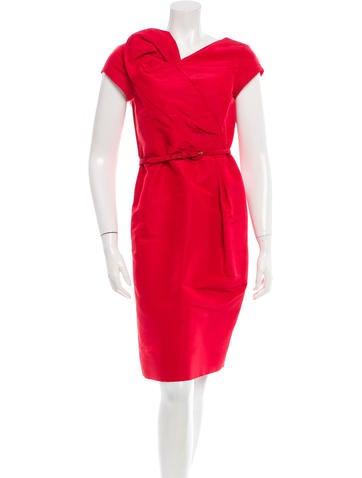 Oscar de la Renta Short Sleeve Dress