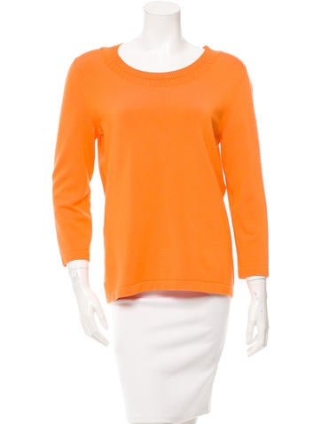 Oscar de la Renta Silk-Blend Knit Top None