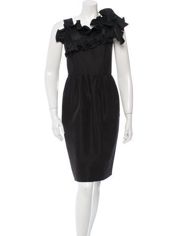 Oscar de la Renta Silk Ruffled Dress w/ Tags