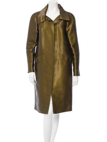 Oscar de la Renta Long Open Front Coat