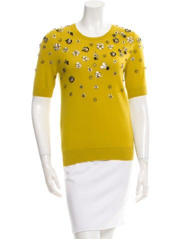Oscar de la Renta 2015 Embellished Sweater w/ Tags None