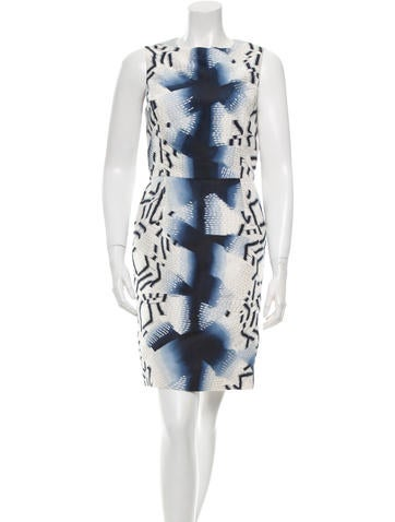 Oscar de la Renta Printed Silk Dress