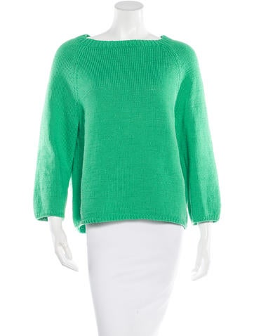 Oscar de la Renta Long Sleeve Knit Sweater None