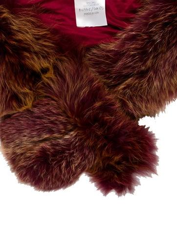 Burgundy Fur Stole